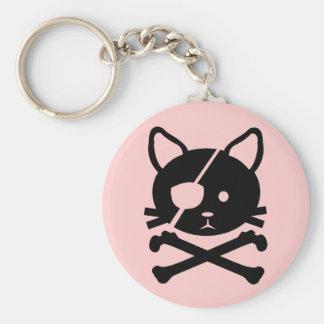 Cat Pirate Keychain