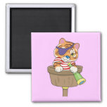 Cat Pirate T-shirts and Gifts Fridge Magnet