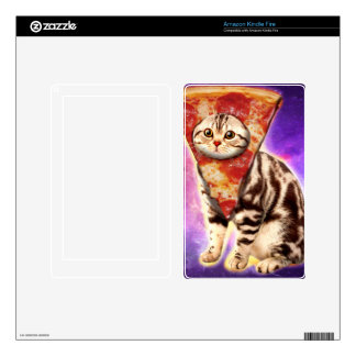Cat pizza - cat space - cat memes decals for kindle fire