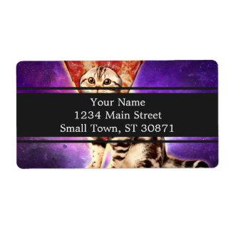 Cat pizza - cat space - cat memes label