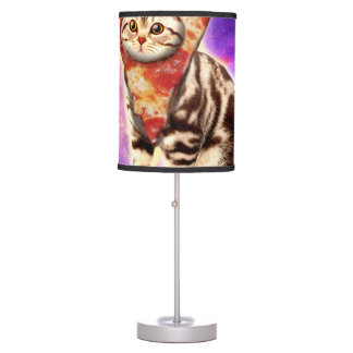 Cat pizza - cat space - cat memes table lamp