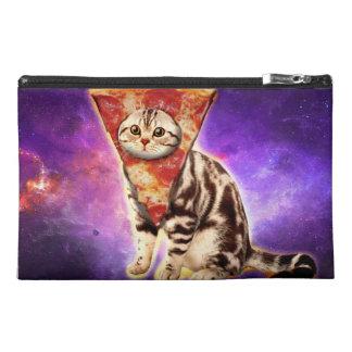 Cat pizza - cat space - cat memes travel accessory bag