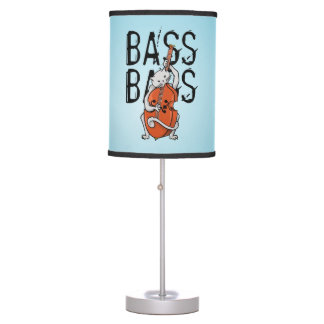 Cat Playing a Double Bass Desk Lamp