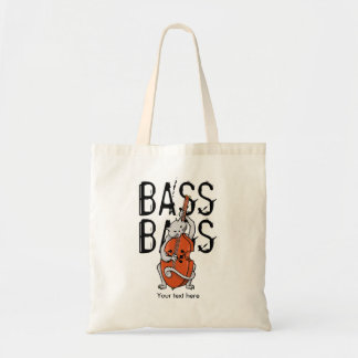 Cat Playing a Double Bass or Upright Bass Tote Bag
