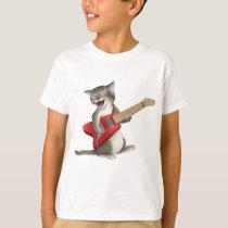 Cat Playing Guitar T-Shirt
