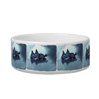Cat Playing In The Rain Pet Bowls