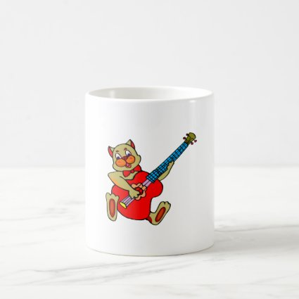 cat playing red bass.png coffee mug