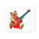 cat playing red bass.png gallery wrapped canvas