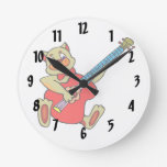 cat playing red bass.png round clocks