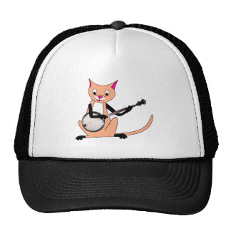 Cat Playing the Banjo Trucker Hat