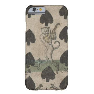 cat playing the fiddle playing card iphone 6 case