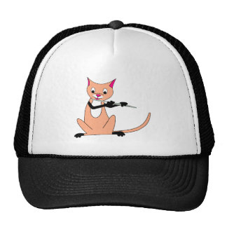 Cat Playing the Flute Trucker Hat