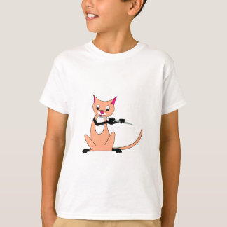 Cat Playing the Flute T-Shirt