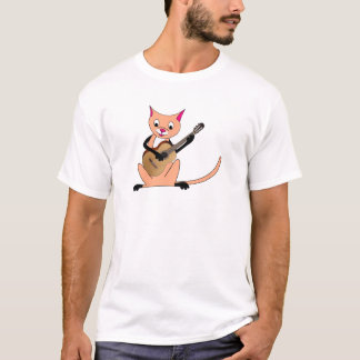 Cat Playing the Guitar T-Shirt