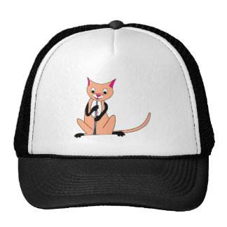 Cat Playing the Oboe Trucker Hat