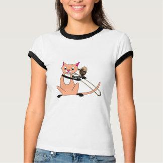 Cat Playing the Trombone T-Shirt