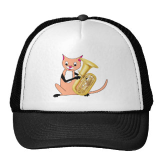 Cat Playing the Tuba Trucker Hat