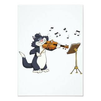 Cat Playing The Violin Card