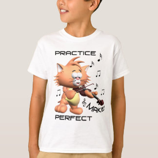 "Cat Playing Violin Girls ""T-shirt T-Shirt"