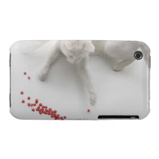 Cat playing with heart shaped candy iPhone 3 Case-Mate cases