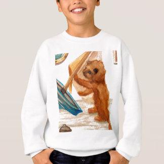 Cat Playing with Mama's Sailboat CricketDiane Art Sweatshirt