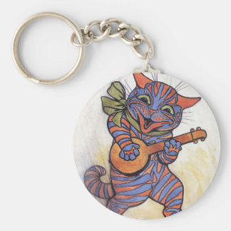 Cat Plays the Banjo Keychains