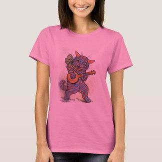 Cat Plays the Banjo T-Shirt