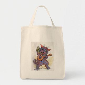 Cat Plays the Banjo Tote Bag