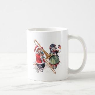 Cat Plays Trombone in the Snow Coffee Mug