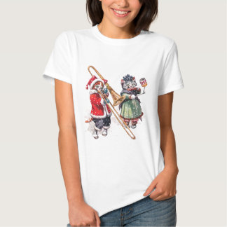 Cat Plays Trombone in the Snow T-Shirt