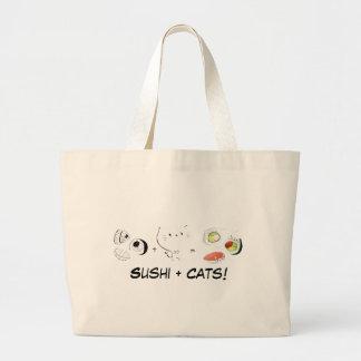 Cat plus Sushi equals Cuteness! Canvas Bag