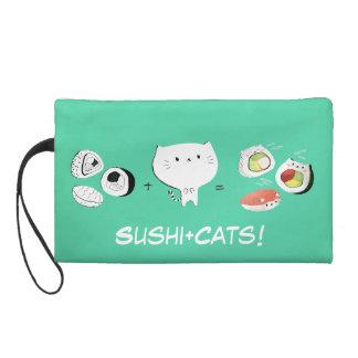 Cat plus Sushi equals Cuteness! Wristlet Purse