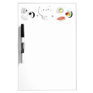 Cat plus Sushi equals Cuteness! Dry-Erase Whiteboard