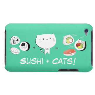 Cat plus Sushi equals Cuteness! iPod Touch Cover