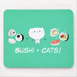 Cat plus Sushi equals Cuteness! Mousepad