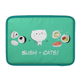 Cat plus Sushi equals Cuteness! Sleeve For MacBook Air