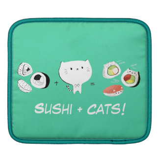 Cat plus Sushi equals Cuteness! Sleeves For iPads