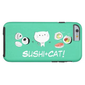 Cat plus Sushi equals Cuteness! Tough iPhone 6 Case