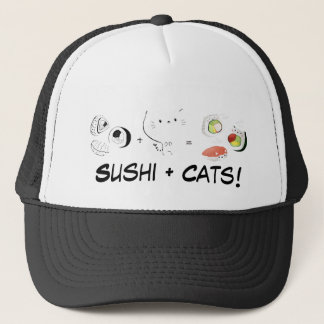 Cat plus Sushi equals Cuteness! Trucker Hat