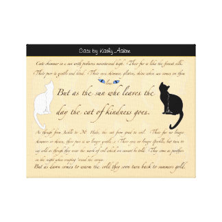 Cat Poetry Wall Art Canvas Print