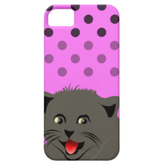 Cat_polka dot_baby girl_pink_desing iPhone 5 covers