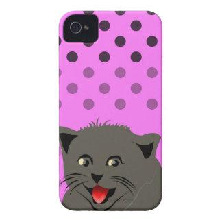 Cat_polka dot_baby girl_pink_desing iPhone 4 covers