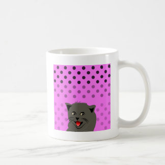 Cat_polka dot_baby girl_pink_desing coffee mug