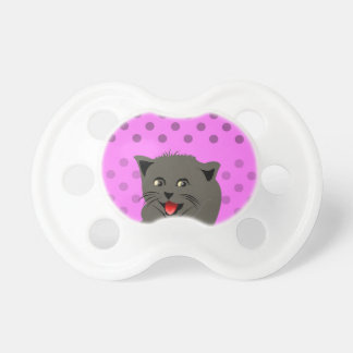 Cat_polka dot_baby girl_pink_desing baby pacifiers
