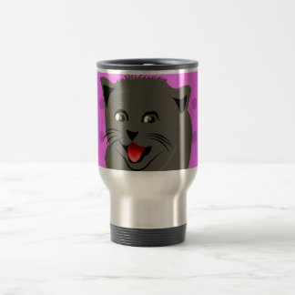 Cat_polka dot_baby girl_pink_desing travel mug