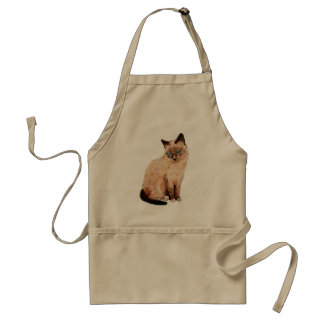 Cat Portrait Adult Apron