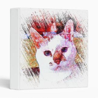 "CAT PORTRAIT ANGEL 1"" Ring Binder"