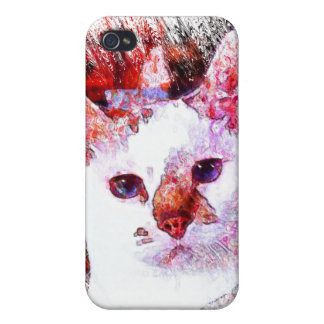 CAT PORTRAIT ANGEL CASES FOR iPhone 4