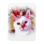 CAT PORTRAIT ANGEL Flexible Magnet Magnets