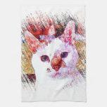 CAT PORTRAIT ANGEL Kitchen Towel